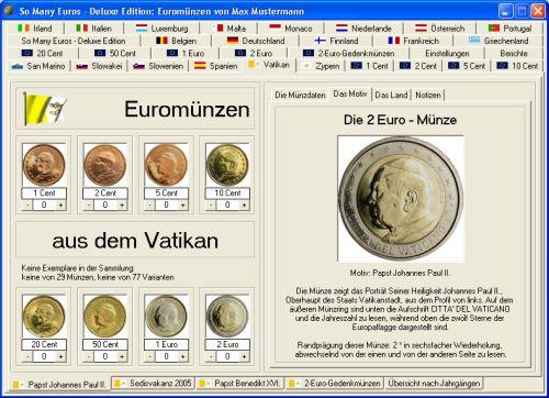 So Many Euros Das Programm Für Euromünzen Sammler
